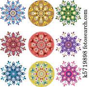 India ornament. Paisley seamless