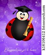 LLadybug with diploma
