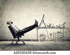relax in office - man sitting