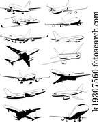 airplane contours