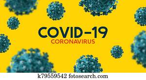 Covid-19 Coronavirus Title Outbreak Background