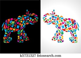 Abstract Elephant Illustration