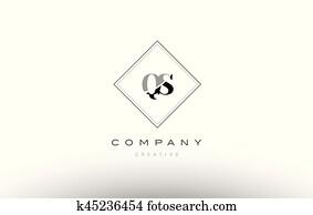 Clipart Of Hs H S Retro Vintage Black White Alphabet Letter Logo