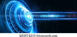 Cyber security data protection business technology privacy concept. Cyber insurance.