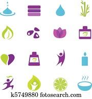 water,, wellnessbereich, und, zen, heiligenbilder