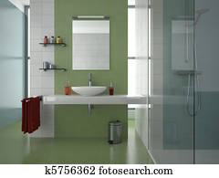 modern green bathroom