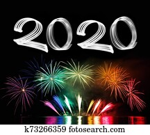 New Year's Eve 2020 with Fireworks