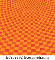 red picnic cloth illustration
