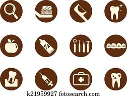 Clipart Cuidado Dental Simples Infographics K21359196 Busca De