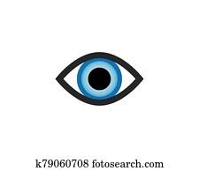 Eye symbol vector illustration design