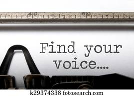 Find your voice inspiration