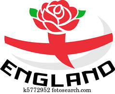 Rugby England rose flag ball