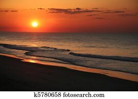 East coast beach sunrise