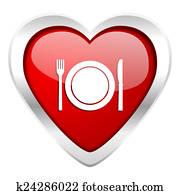 eat valentine icon restaurant symbol