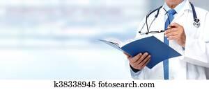 Hands of medical doctor.