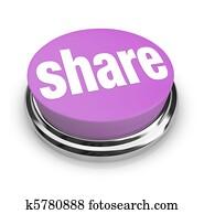 Share Word on Round Button - Generosity