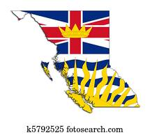 British Columbia map flag