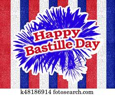 Happy Bastille Day Graphic