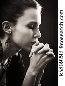 Faith and religion - prayer of woman