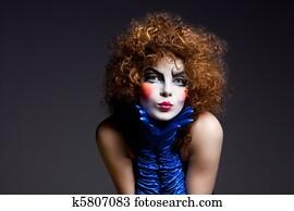 bild clown pantomime k28723107 suche stockfotografie. Black Bedroom Furniture Sets. Home Design Ideas