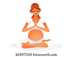 Pregnant doing yoga