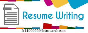 Resume Writing Colorful Abstract Shapes