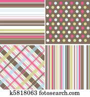 seamless, patterns,, stoffstruktur