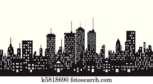 Urban buildings in the city