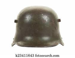German Helmet WWI Stahlhelm M1916 Stock Image   k64254142