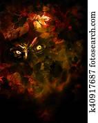 Autumn horror background
