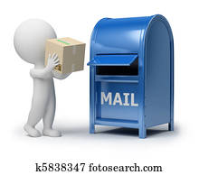 3d small people - mailing a package