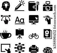 Designer icon set