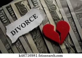 Divorce heart concept