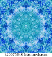 Seamless pattern, watercolor paintings