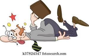 Collapsed businessman