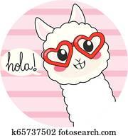 Cute Hola Llama