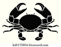 krabbe, see tier, silhouette