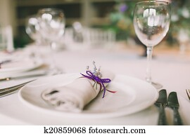 napkin decorated for a wedding