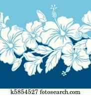 Seamless Hibiscus Hybrid Pattern