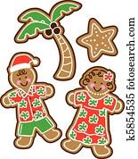 Tropical Christmas Cookies