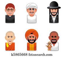Avatar people icons (religion)