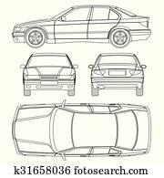 car line drawing