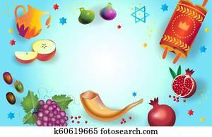 Shana Tova! Happy Jewish New Year Rosh Hashanah greeting card