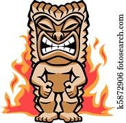 Fierce Warrior Tiki