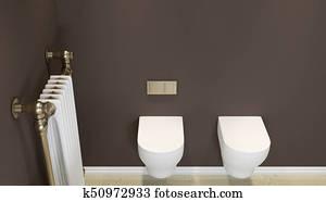 Archivio di immagini bagno con gabinetto e specchio for Specchio bagno 3d