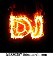 burning dj word