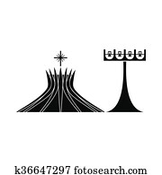 Metropolitan Cathedral in Brasil icon