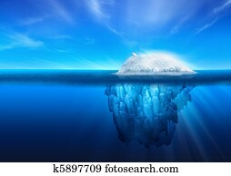 Natural Iceberg with Polar Bear