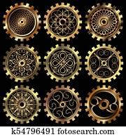 The steampunk gears
