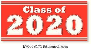 Class of 2020 with Red Background